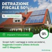 Impianti Fotovoltaici: detrazione fiscale del 50% - Rinnova Energy